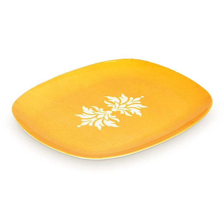 Living Essence White Melamine Floral Bloom Serving Platter,Hot Deals