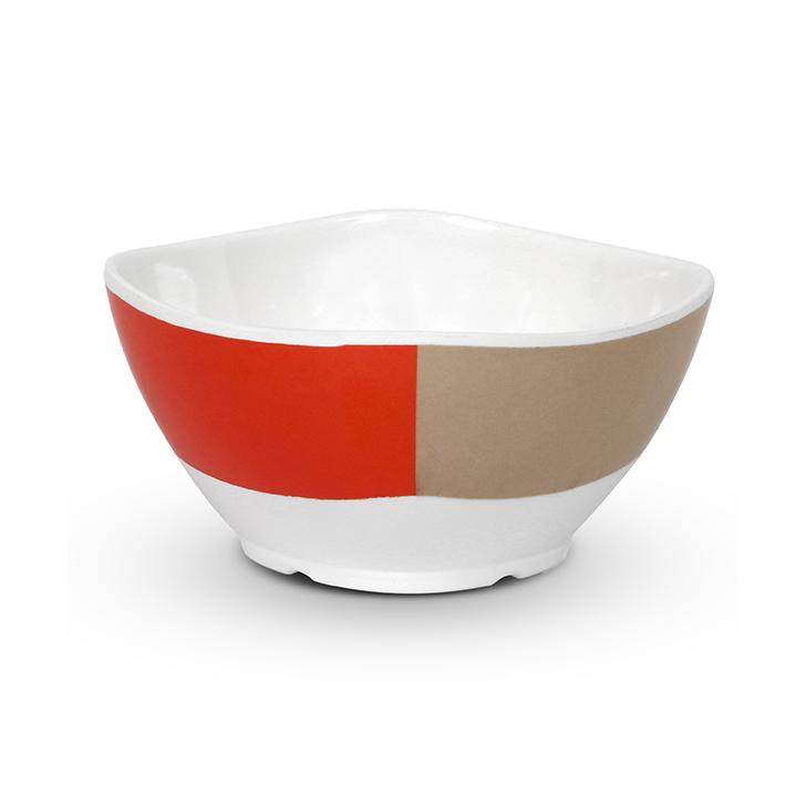 Living Essence Melamine Veg Bowl Red And White,Plates