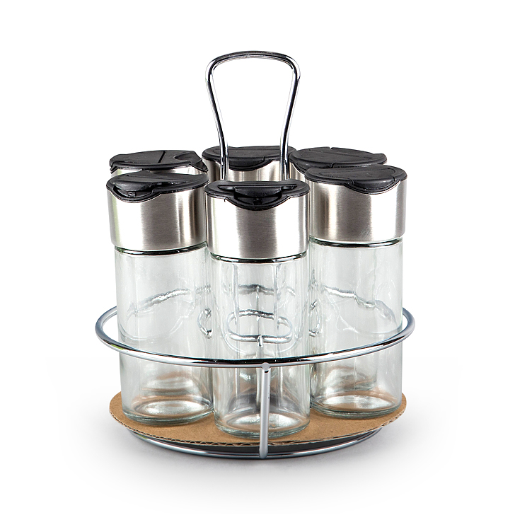 Living Essence Spice Rack Set 6 Pcs,Containers