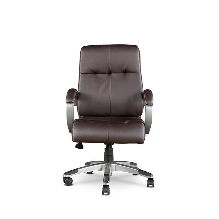 Hugo Leatherite Medium Back Chair,Office Chairs