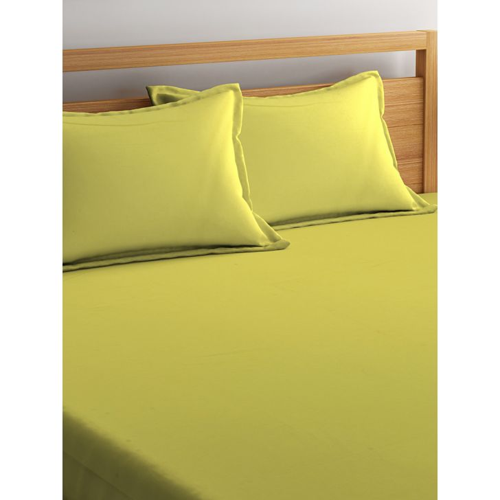 Portico Percale Bedsheet Green,Double Bed Sheets