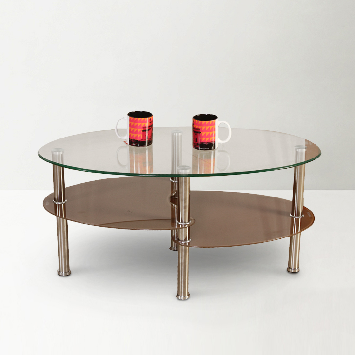 Luna Centre Table in Brown Finish,Coffee Tables