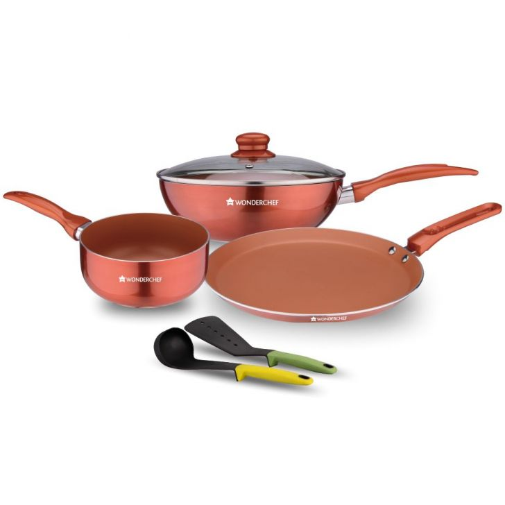 DIVA 4 PCS COOKWARE SET WT 2 TOOLS,Kitchenware