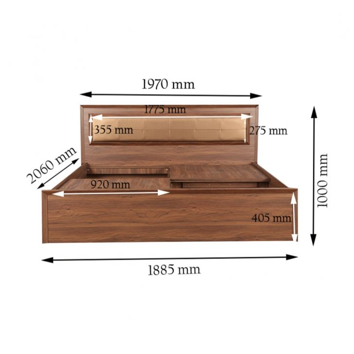 Stark Upholstery King Bed With Box Storage,All Beds