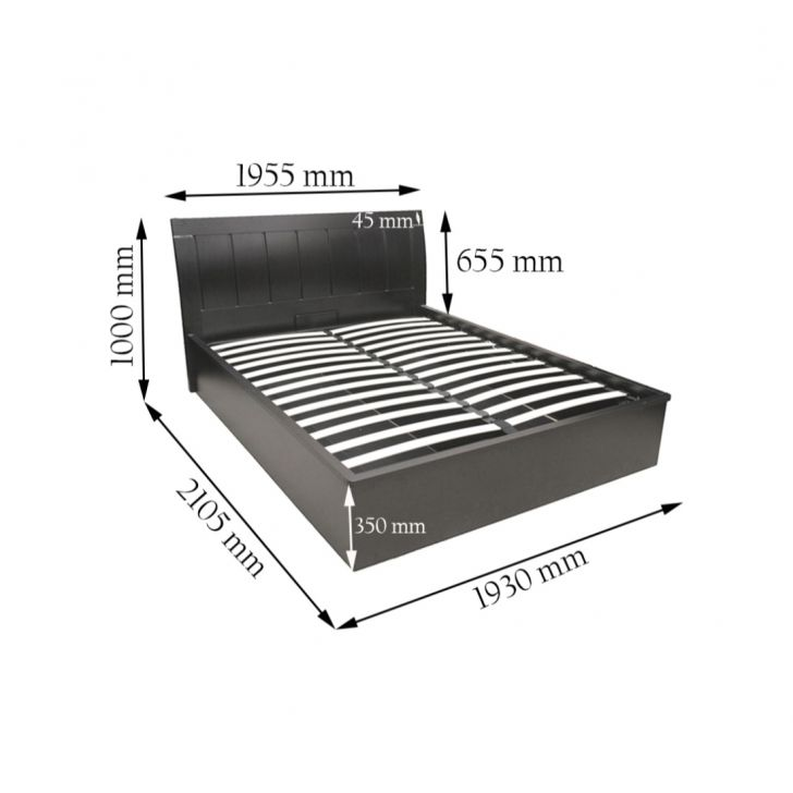 Mozart King Bed with Full Hydraulic Storage,All Beds