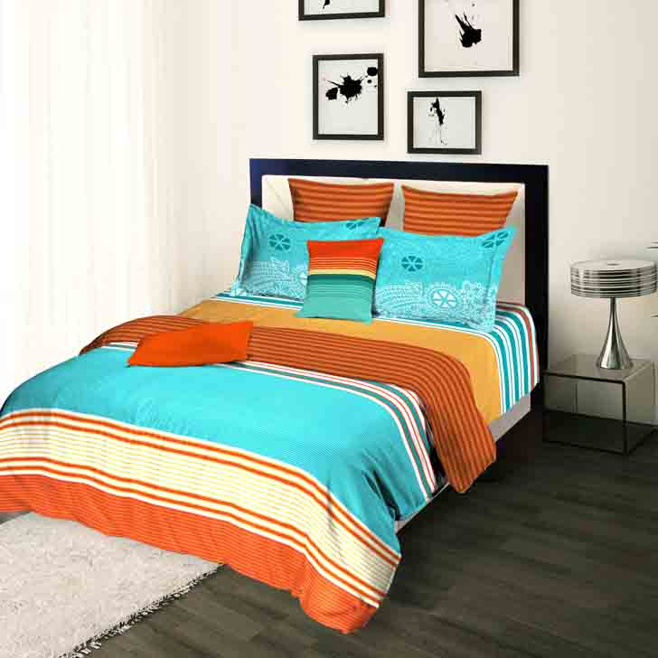 Tangerine Tangy Silver Single Duvet Cover,Duvet & Covers
