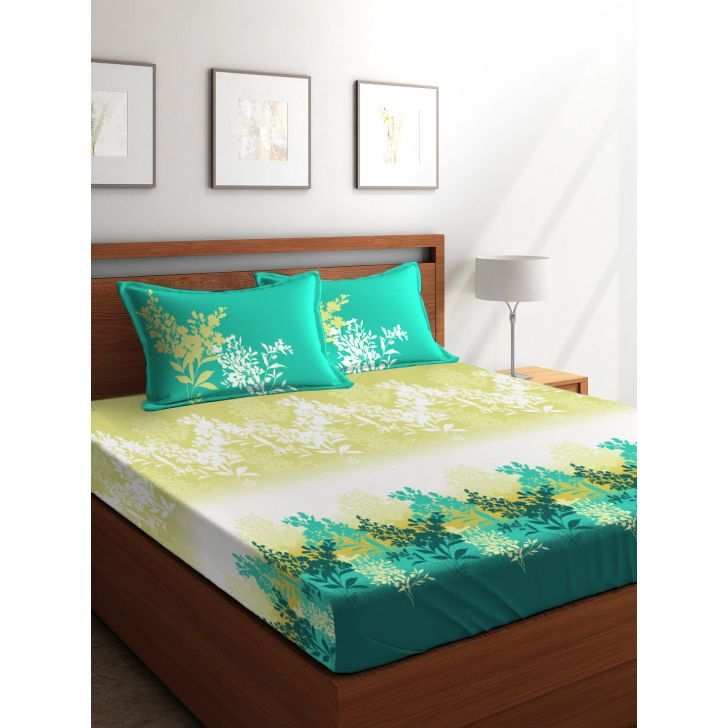 King Bedsheet French Gold Blue,King Size Bed Sheets