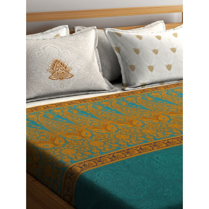 Portico Shubhmangalam Bedsheet Multicolour,Double Bed Sheets