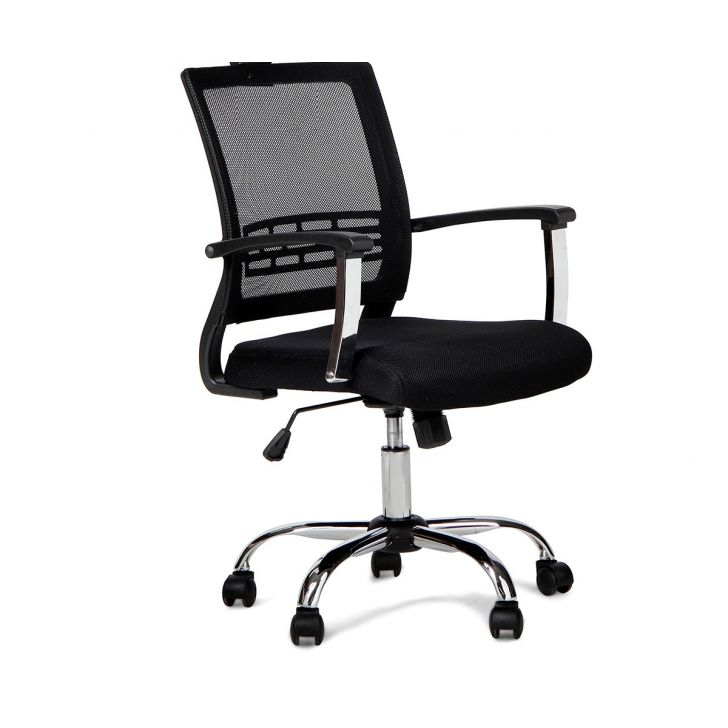 Titus Medium Back Mesh Chair in Black Colour,Office Chairs