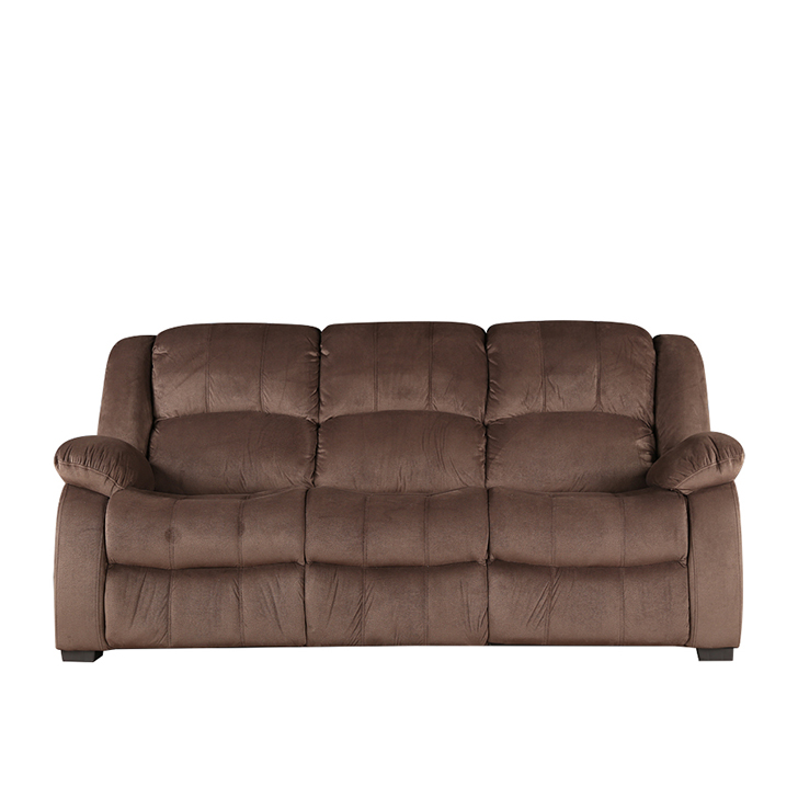 Rhea Three Seater Fabric Sofa Brown,Sofas & Sectionals