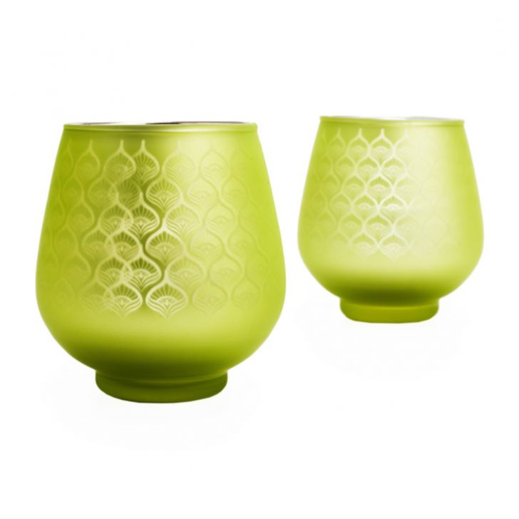 Zahara Set of 2 Peacock Cup Candle Holder Assorted,Candle Holders