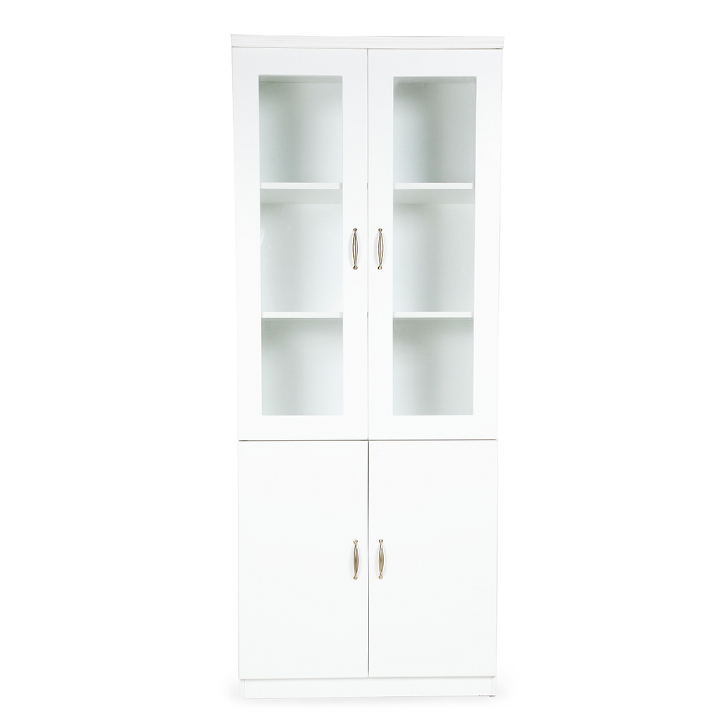 Legacy 2 Door Book Shelf White,Furniture