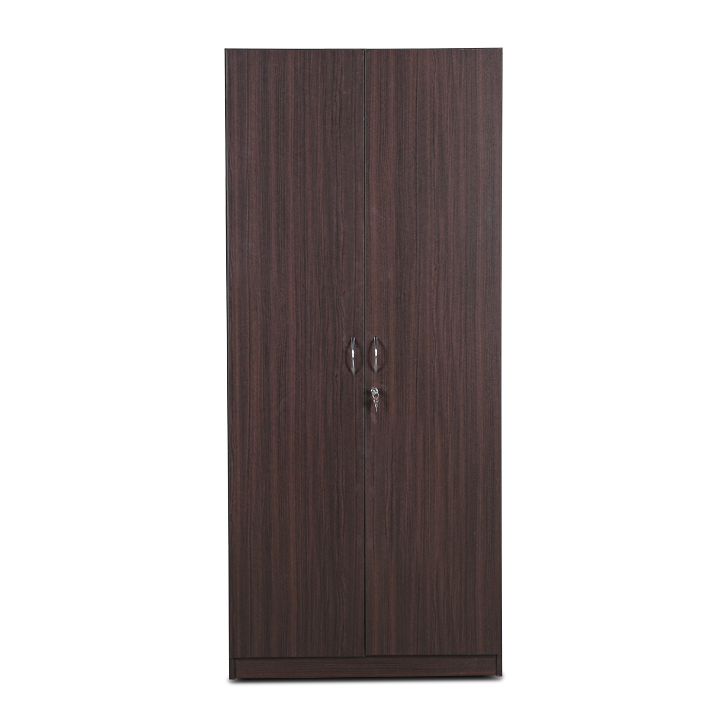 Willy Two Door Wardrobe in Walnut Finish,Furniture