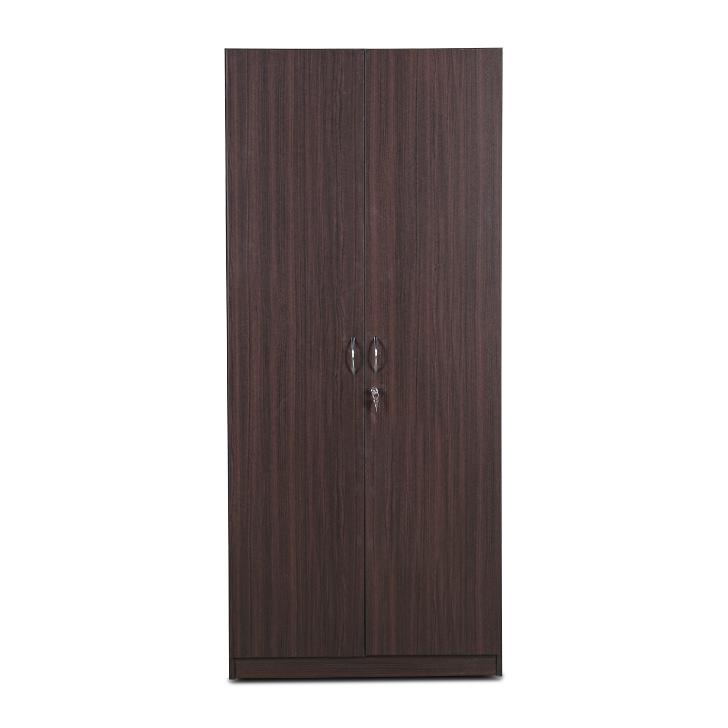 Willy Two Door Wardrobe in Walnut Finish,HomeTown Best Sellers