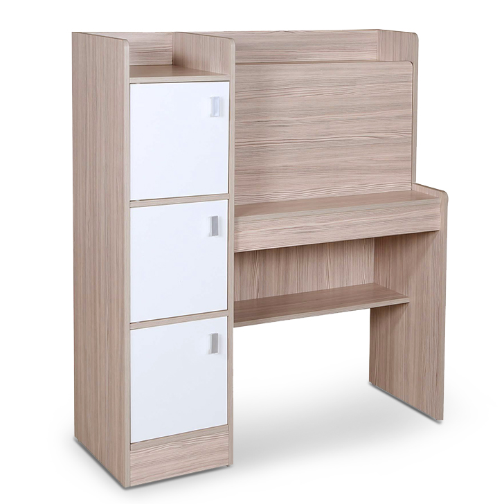 Ace Study Desk in White Colour,Book Shelves