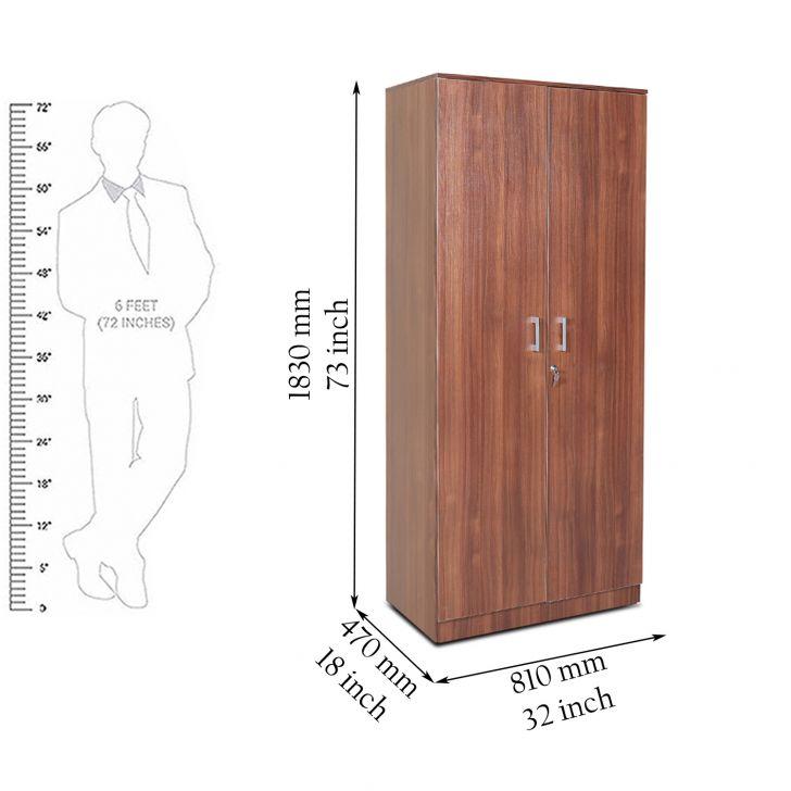 Premier Two Door Wardrobe in Regato Walnut Colour,All Wardrobes