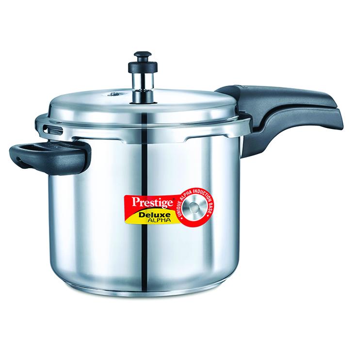 Prestige Deluxe Alpha Stainless Steel Pressure Cooker 5500 ml,Kitchenware
