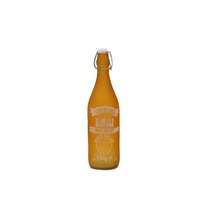 Orange Quoted Frosted Bottle 1L,Bottles