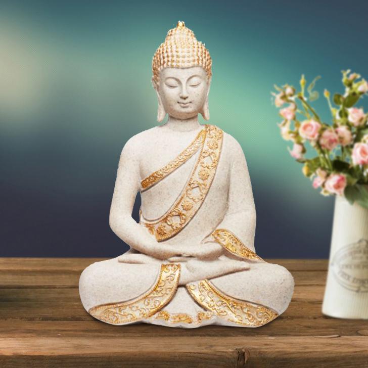 Zen Ornate Sand Gold Buddha,Figurines