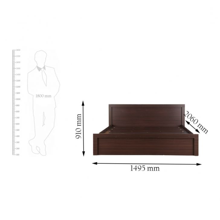 Dazzle Queen Bed in Walnut Finish,The Big Summer Sale