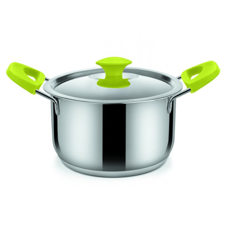 oven rnd w steel lid 2600 ML grn,Cooking Essentials