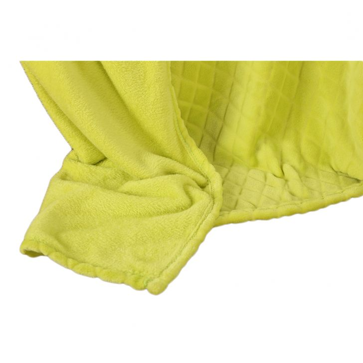 Fleece Blanket 240X220 Diamond Lime,Quilts/Blankets