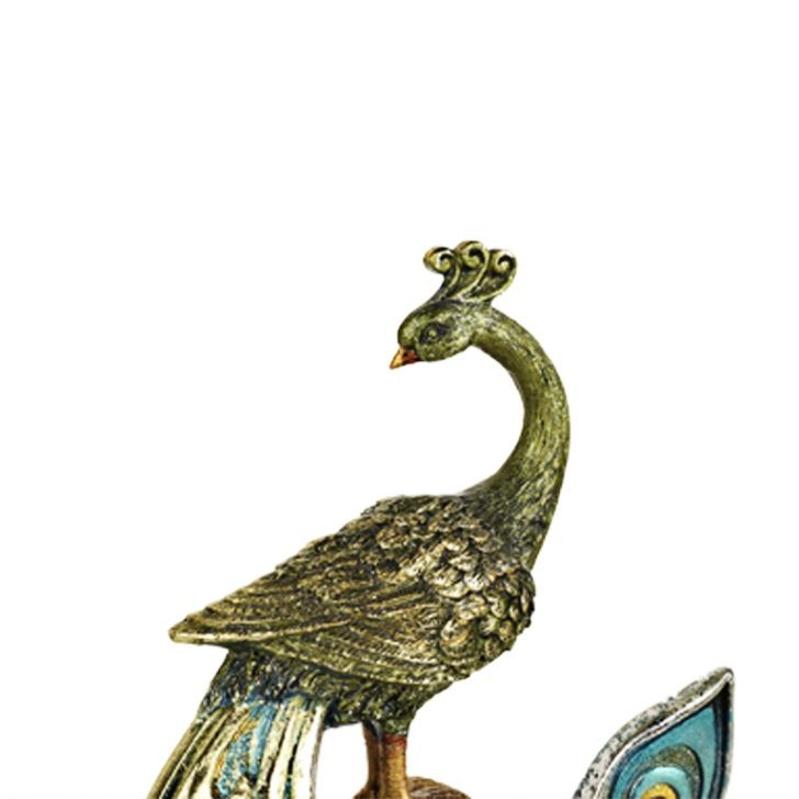 Buy Peacock Figurine On Stand Online In India Li889de28xkthtfur Www Hometown In
