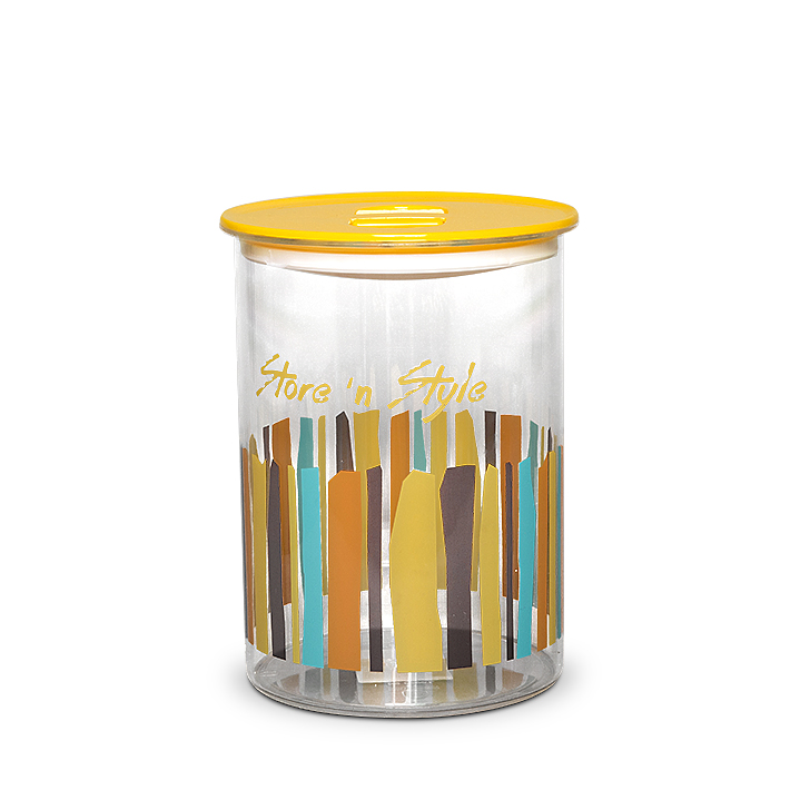 Living Essence Canister 2700 ml Mustard,Containers