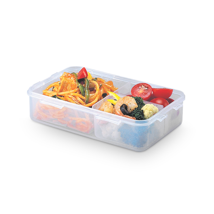 Lock & Lock Classics Rectangular Food Container With Divider 800 ml,Containers