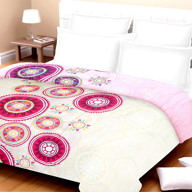 Eden Traditional Cotton Bed In A Bag Fuchsia,Double Bed Sheets