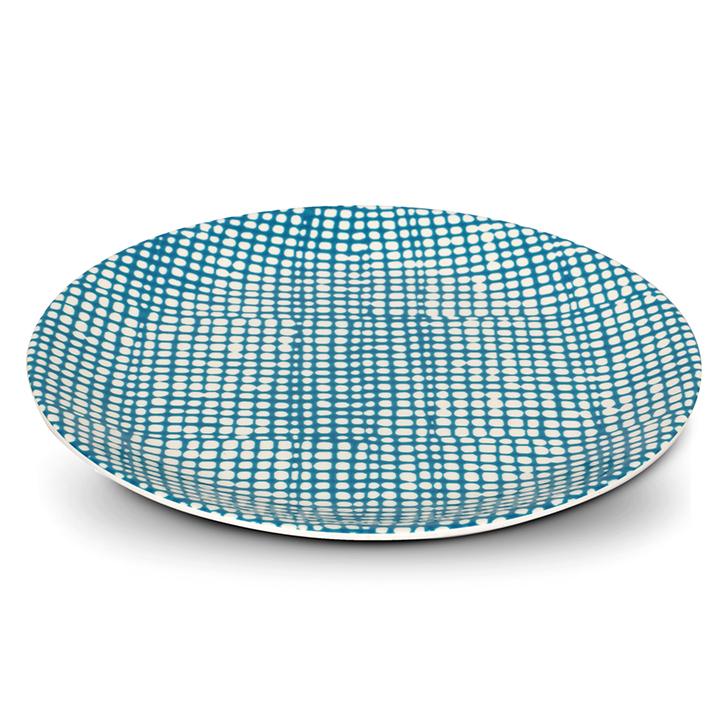 Living Essence Melamine Buffet Plate Teal,Plates