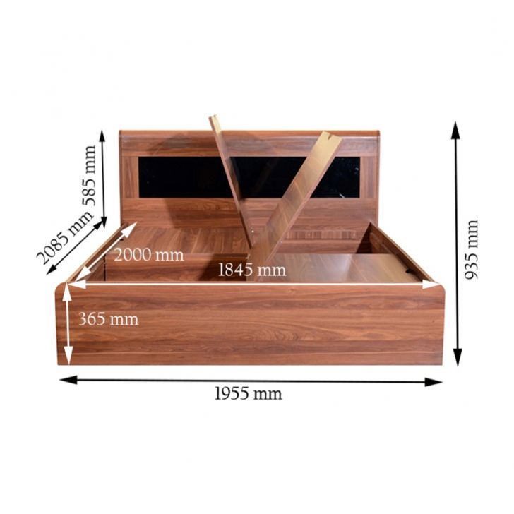 Archer King Bed With Box Storage,All Beds