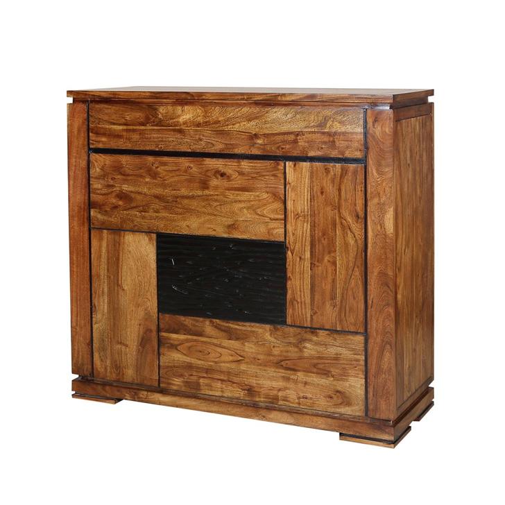 Leopold Bar Cabinet in Walnut Finish,Bar Furniture