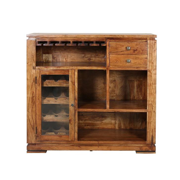 Leopold Bar Cabinet in Walnut Finish,Bar Cabinets