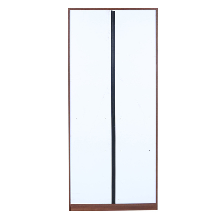 Ultima Two Door Wardrobe With Mirror Regato Walnut,Furniture