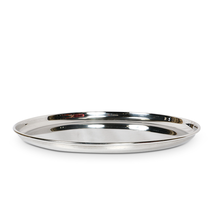 Living Essence Stainless Steel Silver Big Plate,Plates