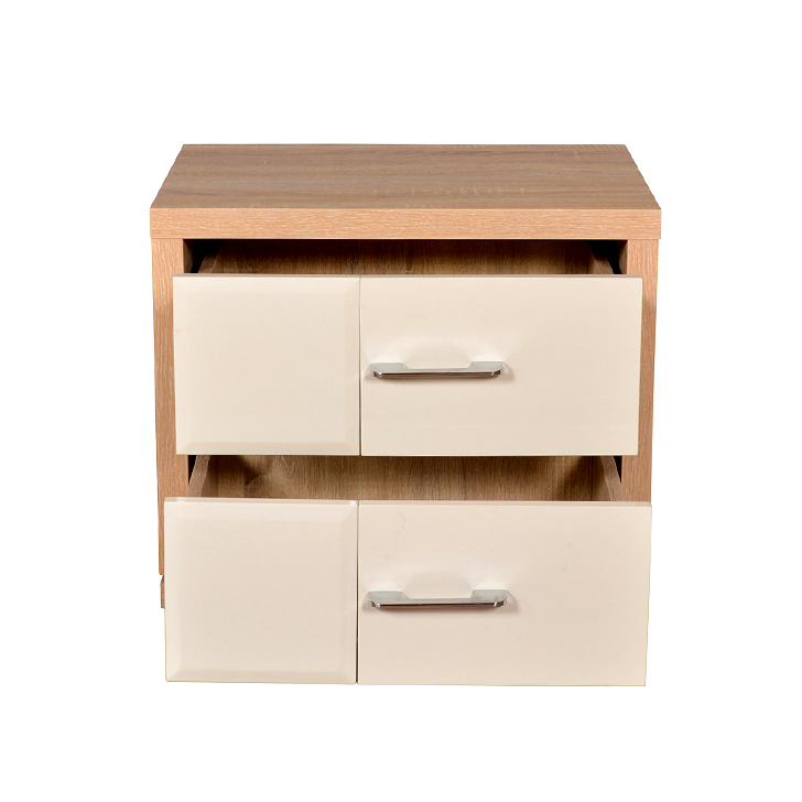 Geo Night Stand in Beige N Cream Colour,Bedside Tables