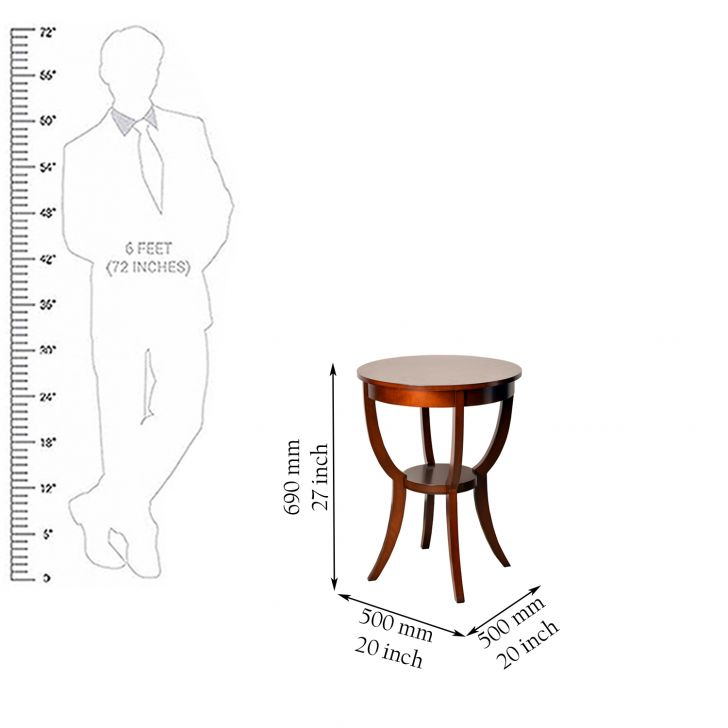 Radial End Table in Brown Finish,Coffee Tables