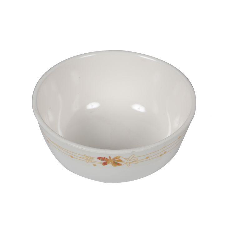 Servewell Ceramic Regular Floral Katori White,Tableware