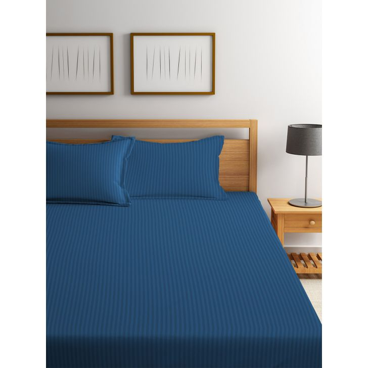 King Bedsheet Silk Sateen Navy Blue,King Size Bed Sheets