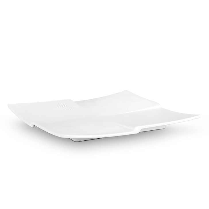 Living Essence Quadra White Platter Small,Plates