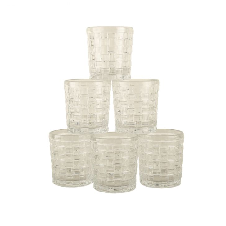 Living Essence Woven Clair Whisky TumbLiving Essencer Set Of 6,Drinkware