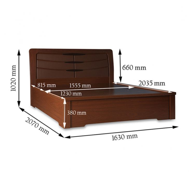 Houston Queen Bed With Half Hydraulic Storage,Hydraulic Beds