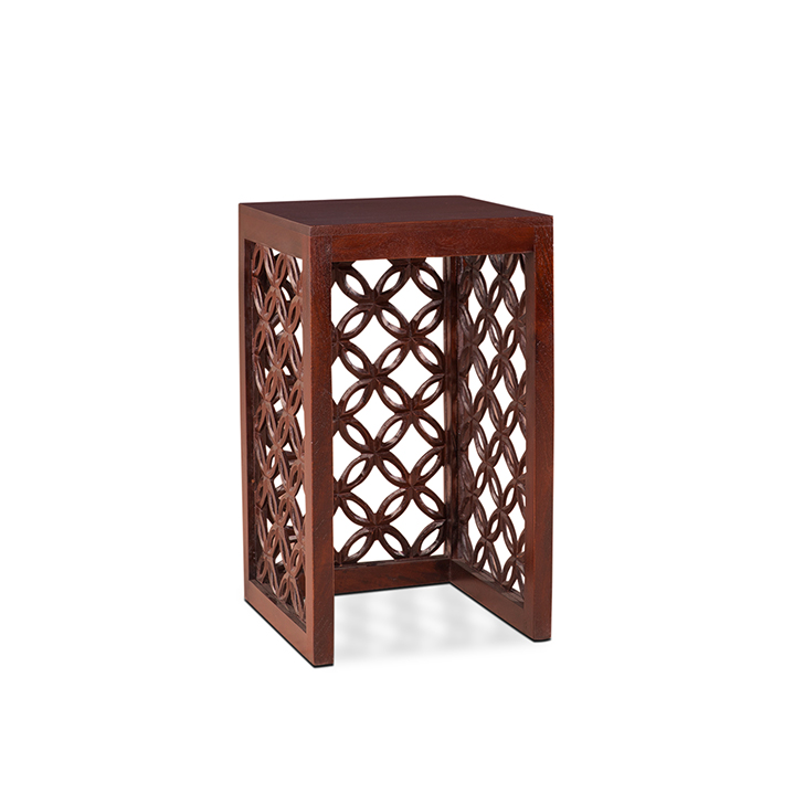 Clara Nesting Table (Set of 2) in Chestnut Finish,Side Tables