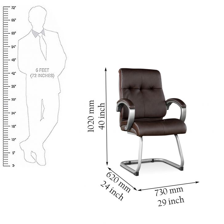 Hugo Leatherite Visitors Chair,Office Chairs