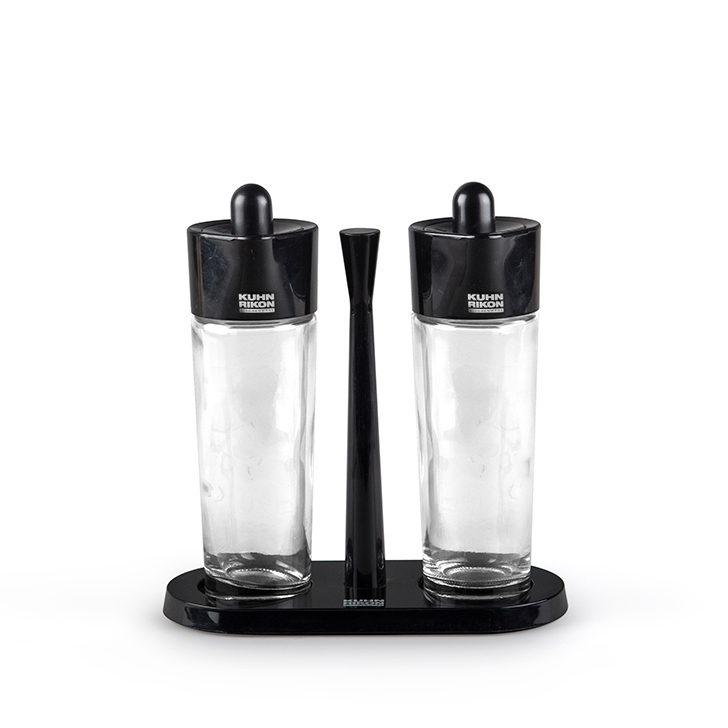 Living Essence Oil And Vinegar Cruet Stand Black,Kitchenware