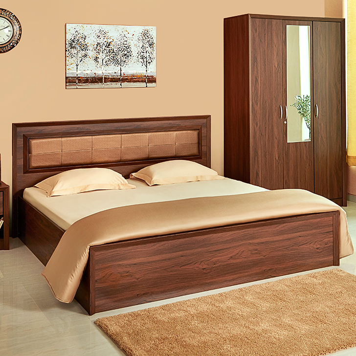 Stark Upholstery Queen Bed With Box Storage,Furniture
