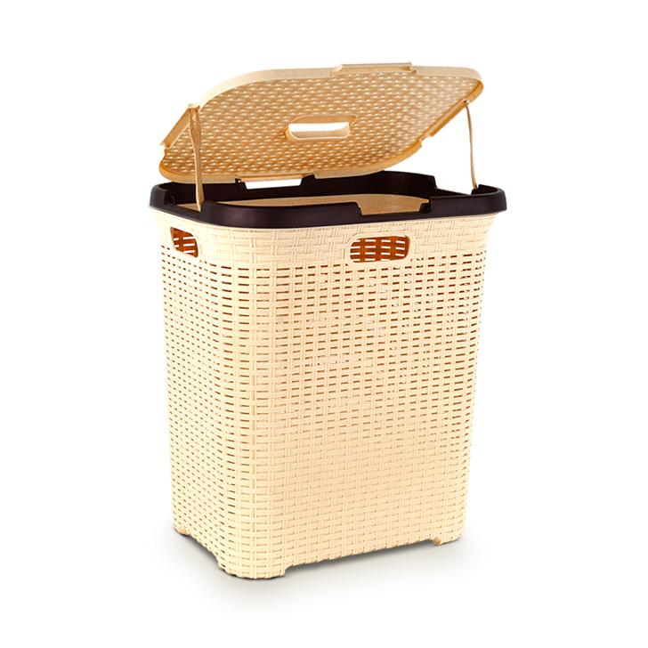 Polyset Elegant Laundry Basket New Beige,Laundry