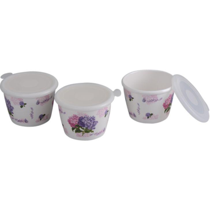 Servewell White Loyal Beauty Storage Jar Set 500 ml 3 Pcs,Canisters & Jars