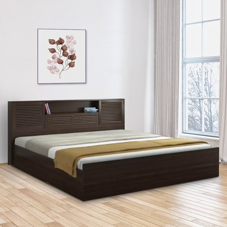Bolton Queen Bed with Box Storage in Wenge Finish,HomeTown Best Sellers